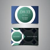Business Card with Abstract Blue Pattern