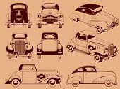 picture of car ride  - A vector set of old car - JPG