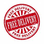 Free Delivery Grunge Rubber Stamp