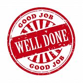 Well Done Grunge Rubber Stamp