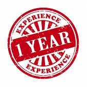 1 Year Experience Grunge Rubber Stamp