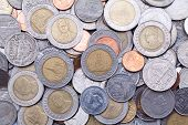Thailand baht coins background