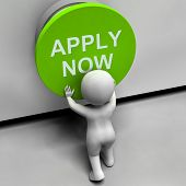Apply Now Button Shows Job Opening And Application