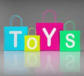 Toys Bags Shows Retail Shopping And Buying