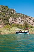 Lycian Tombs On The Dalyan River In Turkey