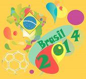 yellow background  Brazil 2014
