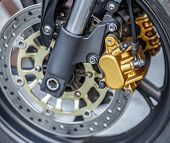 Motorcycle Wheel Brake Background In Motorbike, Motorcycle Wheel Brake