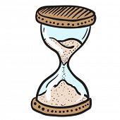 hourglass cartoon doodle