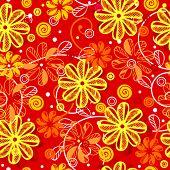 floral seamless pattern, vector illustration