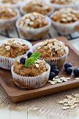 Vegan banana carrot muffins