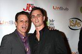 LOS ANGELES - APR 2:  Christian LeBlanc, Darin Brooks at the 2014 Indie Series Awards at El Portal T