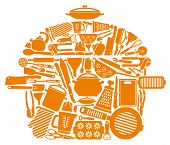 Symbol of kitchen ware