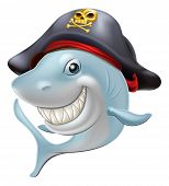 Pirate Shark Cartoon