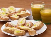 Tasty Canapes With Juice