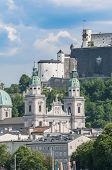Salzburg Cathedral Seen From Salzach River, Austria