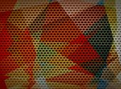 Mosaic cubism background metal hole