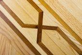 Hardwood parquet floor with pattern