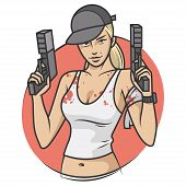 picture of cap gun  - Illustration - JPG