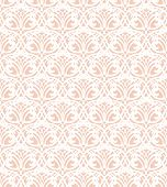 White Lace Seamless Pattern On Pink Background