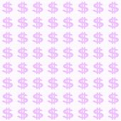 Small Purple Dollar Sign Pattern