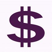 Large Purple Dollar Sign