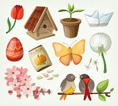 Set Of Spring Items