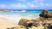stock photo of playa del carmen  - Caribbean sea scenery in Playacar  - JPG