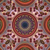Circle Center 3D Pattern Red