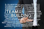 Team building of teamwork concept
