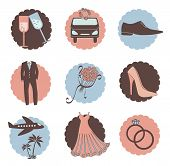 Vector Set Of Wedding Icons