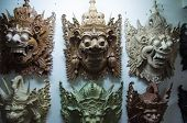 Traditional Balinese Wooden Masks