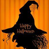 Halloween witch, purple