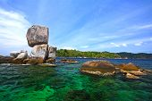 Stack Rocky Island Against Crystal Andaman Sea