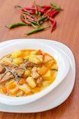 Hungarian goulash (gulyas) soup
