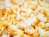 Macro Shot Of Popcorn, Selective Focus