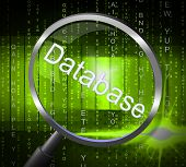 picture of byte  - Databases Magnifier Representing Dataflow Computing And Byte - JPG