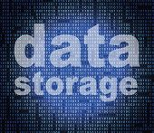 Data Storage Means Hard Drive And Bytes