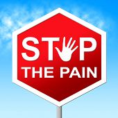 picture of heartbreak  - Stop Pain Representing Warning Sign And Heartbreak - JPG