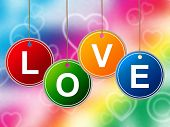 Heart Love Represents Lovers Romantic And Hearts