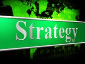 Business Strategy Means Commercial Biz And Tactics