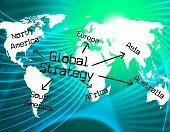 Global Strategy Shows Worldwide Globe And Earth