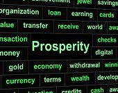 Rich Prosperity Represents Riches Treasure And Wealth