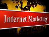 Marketing Internet Means World Wide Web And Promotions
