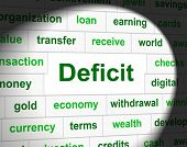 Debts Deficit Means Financial Obligation And Arrears