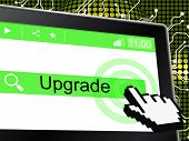 Upgrade Update Indicates Upgraded Updates And Improve