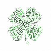 Lucky Day Word Cloud Four-leaf Clover