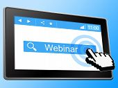 Webinar Training Means Seminar Internet And Teach