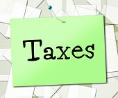 Sign Taxes Represents Display Taxation And Advertisement