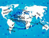 Global Marketing Represents Earth Promotion And Globe