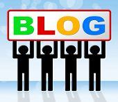 Web Blog Indicates Websites Blogger And Blogging